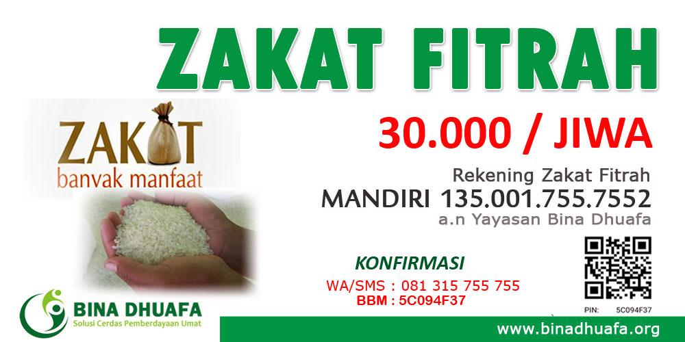 Layanan Zakat Fitrah Bina Dhuafa