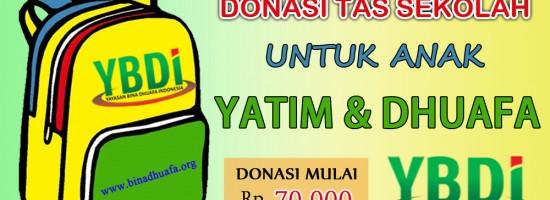 Donasi Tas Untuk Anak Yatim Dhuafa
