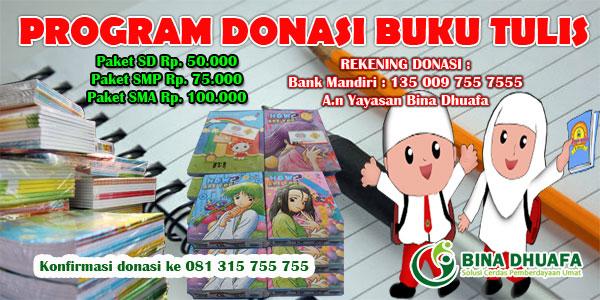 Program Donasi Buku Tulis