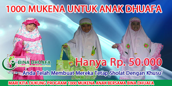 Program 1000 Mukena Untuk Dhuafa